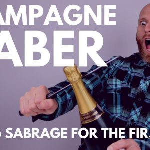 CHAMPAGNE SABER CHALLENGE - I try SABRAGE for the FIRST TIME
