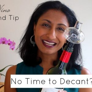 30 Second Wine Hack: No Time to Decant Wine? Try my trick