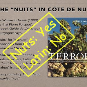 Winecast: Côte de Nuits Miscellaneous Information Supplement