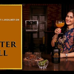 THE WINTER CHILL I An ode to the Winters I The Perfect Pour I Cocktail I Jaisalmer I Gin